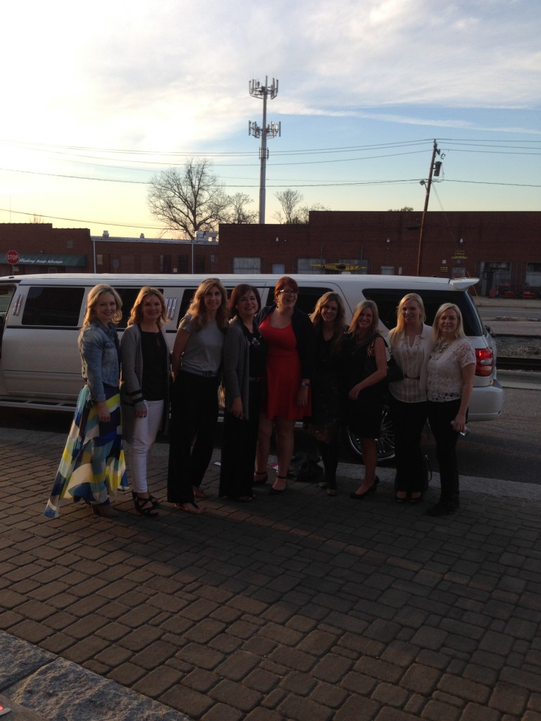 Limo arrival